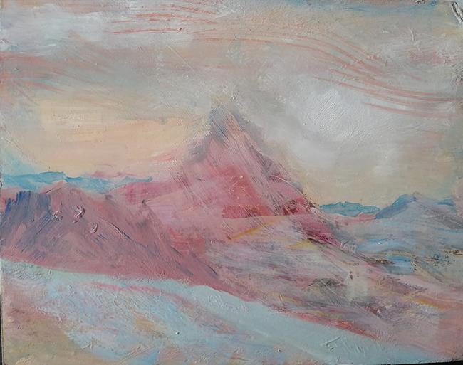 matterhorn mist oi painting alps