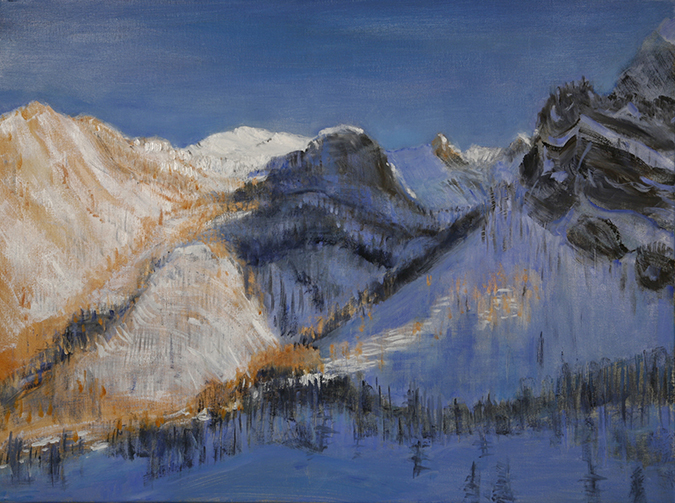 viviere italy alps painting