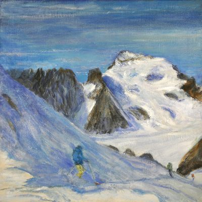 Ecrins Haute Route 2nd state - oil on canvas 61 x 61 cm 24 x 24 inches61 x 61 cm 24 x 24 inches