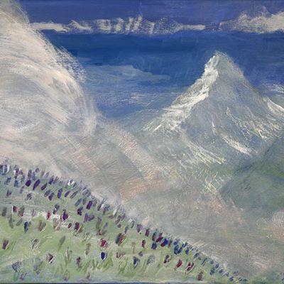 Spring in Zermatt - oil on canvas 35.5 x 45.5 cm (14 x 18 inches ) £475 unframed