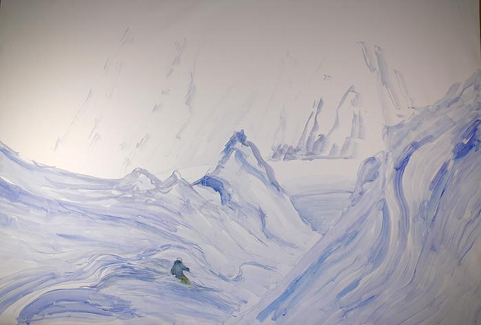 mittelberg pitztal austria alpine painting