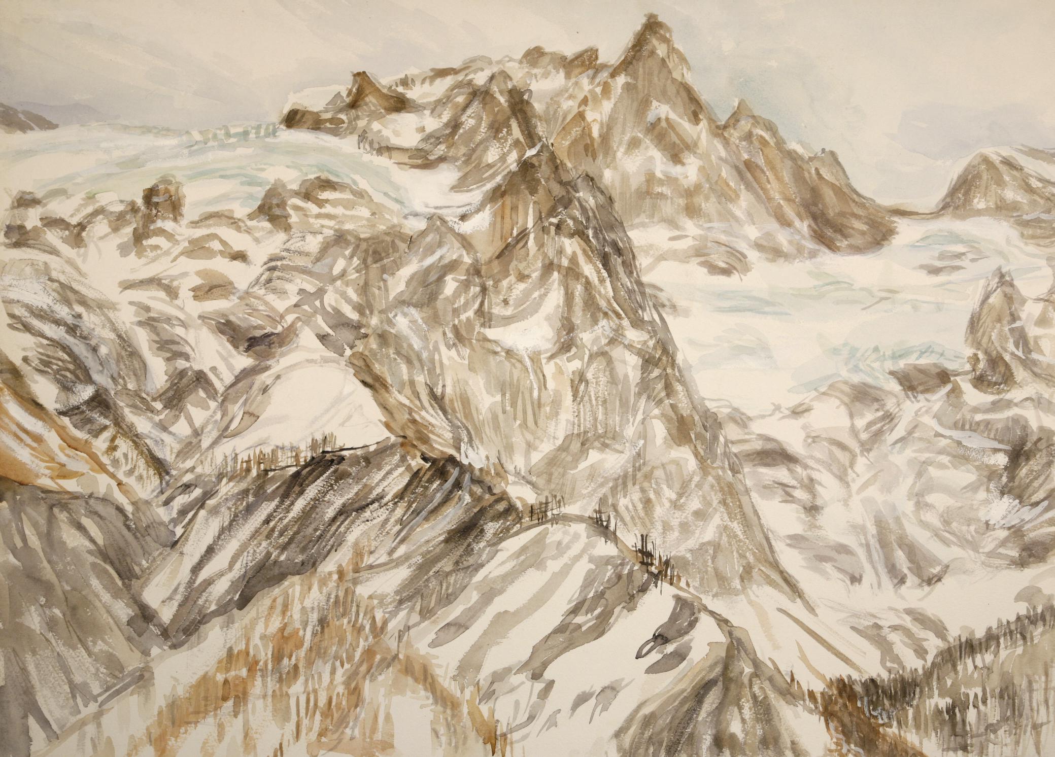la meje france alpine painting
