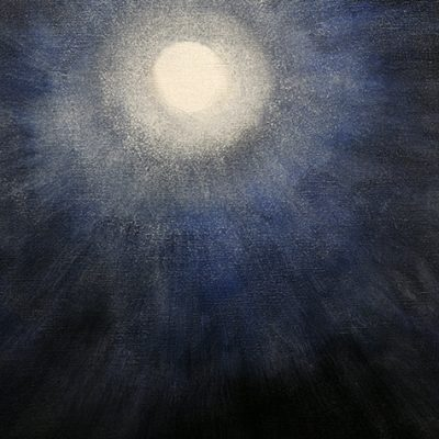 Detail Full Moon over Svalbard oilon canvas 96 x 86 cm (38 x 34 inches)