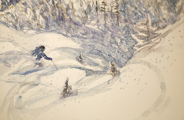 powder skiing Pitztal Austria
