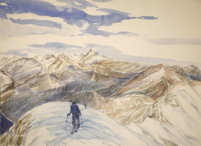 val maira bric boscasso alps painting mon viso