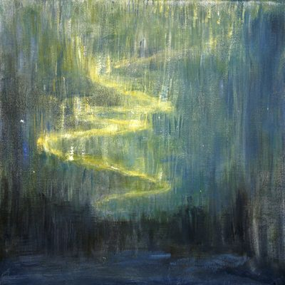 Dream of the Northern Lights - 50 x 50 cm oil on canvas £475
