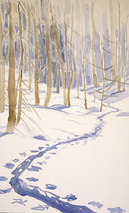 val maira soleglio bue italy ski touring alpine ski painting