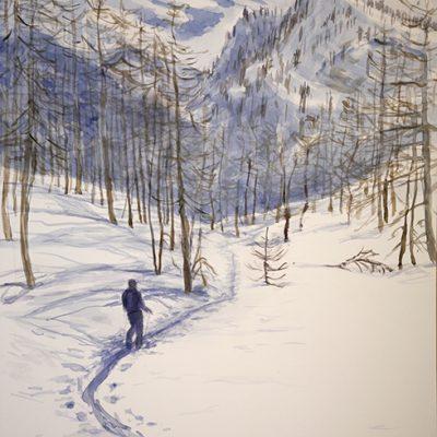 val maira soleglio bue italy ski touring alpine skiing painting