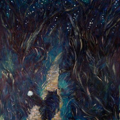 Starlit Prowl - oil on panel  44 x 33 cm £400 framed