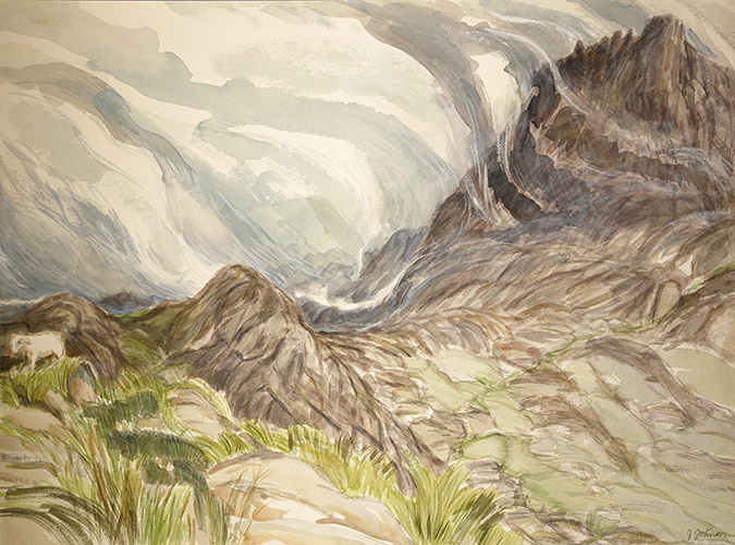 north face tryfan watetcolour painting wales snowdon