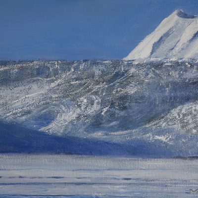 Unsurveyed Glacier in Svalbard , Near Pyramide - oil on canvas 76 x 101 cm (30 x 40 inches)