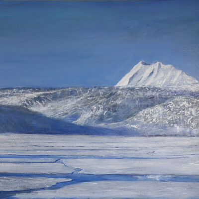 terrierfjellet nordenskioldbreen svalbard spitsbergen oil painting glacier