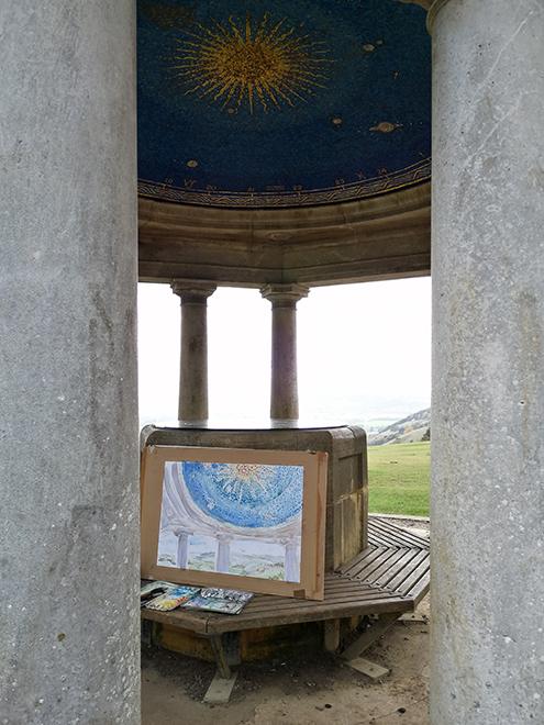 inglis memorial folly plein air north downs way