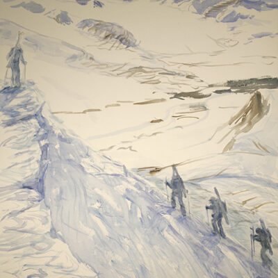 Ski Tour above Gronfjord Svalbard - third view