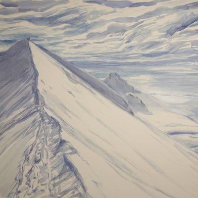 Il Naso di Lyskamm - watercolour on paper 55x 75 cm £650