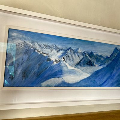Valle Blanche with white frame surround