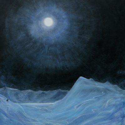 June 2021 Progress Moonlight in Svalbard -  oil on canvas 96 x 86 cm (38 x 34 inches)