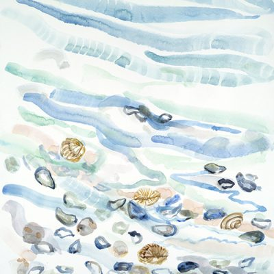 Shells on the Shoreline Greece - watercolour hot press paper 75 x 55 cm £400