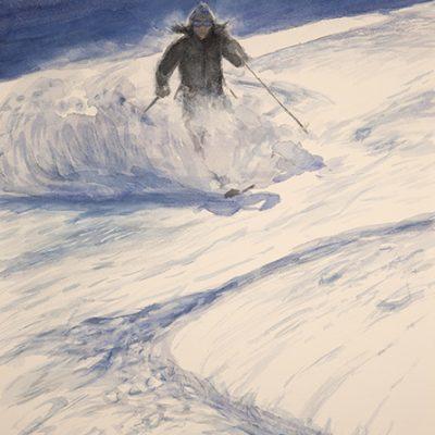 Schwarztor zermatt skiing powder