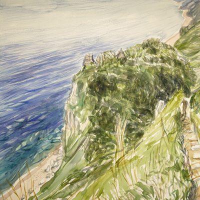 sherbone rocks south west coast path devon sea